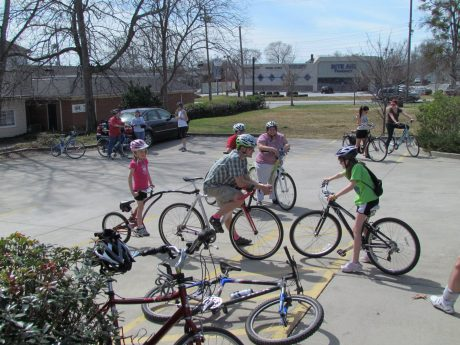 "Members of the community come out to ride in the monthly ""SlowSpokes,"" starting at Blue Moon Bicycles every second Sunday. For more information, visit www.facebook.com/griffinbicyclecoalition"