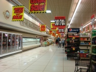 Aisles and shelves empty as Piggly Wiggly closes.  IMAGE CREDIT: ALEXANDER CAIN
