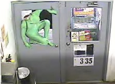 The Spaldling County Sheriff's Office says an unidentified perpetrator wearing a green full body suit to conceal his identity made forced entry and burglarized the Ringgold Grocery Store Sunday morning.