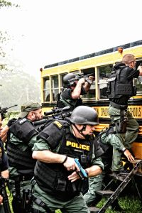 Personnel of the Griffin Police Department and the Spalding County Sheriff's Office recently underwent specialized bus rescue training under the instruction of FBI hostage rescue agents.