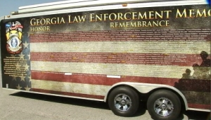 The Georgia Law Enforcement Memorial Wall will be coming to the Griffin Police Department in honor of Officer Kevin Jordan, who was killed in the line of duty May 31, 2014.