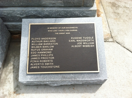 The Lost Soldiers new plaque