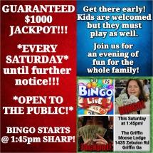 Moose Lodge bingo ad